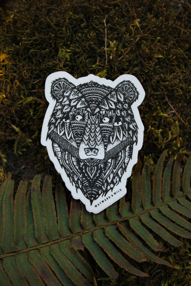 "Bear Mandala 3.4"" Sticker"