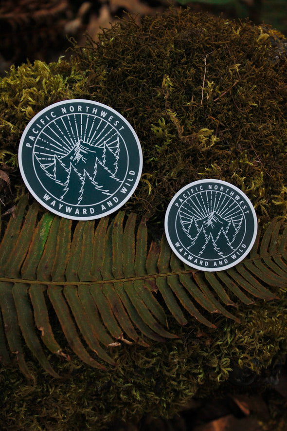 Pacific Northwest Sunburst Sticker