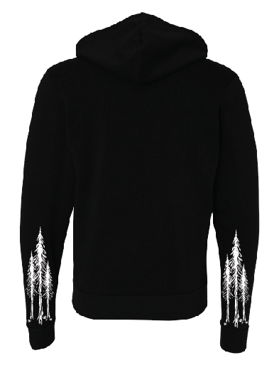 Tree Sleeves Zip Up Sweatshirt
