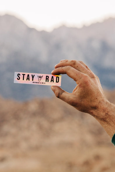 STAY RAD Holographic sticker