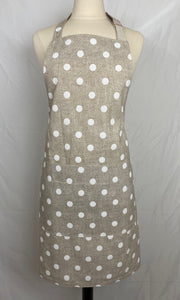 Classic Adult - Natural with Bright Polka Dots