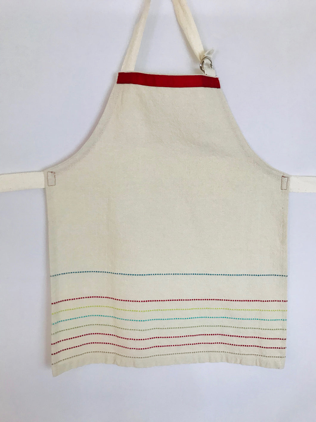 The Younger Creative Soul - Natural Cotton with Embroidery Trim