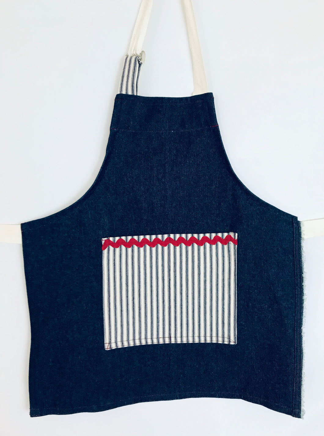 The Younger Creative Soul - Denim with Railroad Stripe Pocket