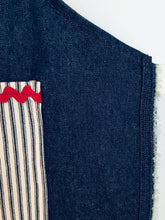 Load image into Gallery viewer, The Younger Creative Soul - Denim with Railroad Stripe Pocket