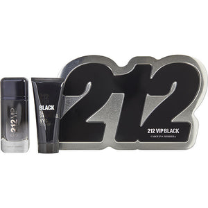 Carolina Herrera 212 VIP Black Gift Set - 100ML EDP Spray + 100ML Shower Gel (Men)