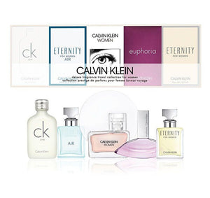 Calvin Klein CK Miniature Gift Set - Eternity 5ML EDP + Euphoria 4ML EDP + Calvin Klein 5ML EDP + Eternity Air 5ML EDP + CK One 10ML EDT (Women)