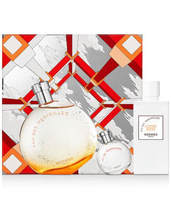 Hermes Eau Des Merveilles Gift Set - 50ML EDT Spray + 7.5ML EDT Spray  + 40ML Body Lotion (Unisex)