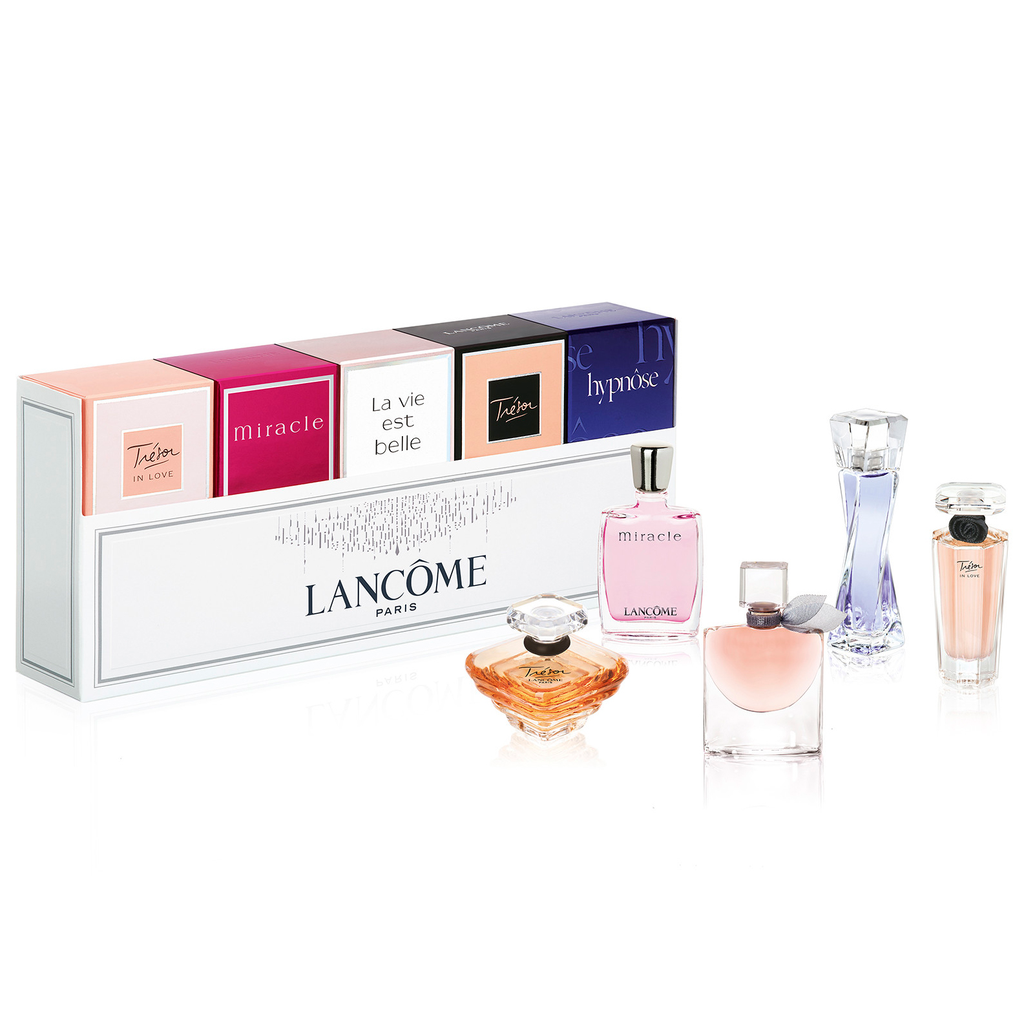 Lancome Miniature Gift Set - Hypnose 5ML EDP + Tresor 7.5ML EDP + La Vie Est Belle 4ML EDP + Miracle 5ML EDP + Tresor In Love 5ML EDP (Women)