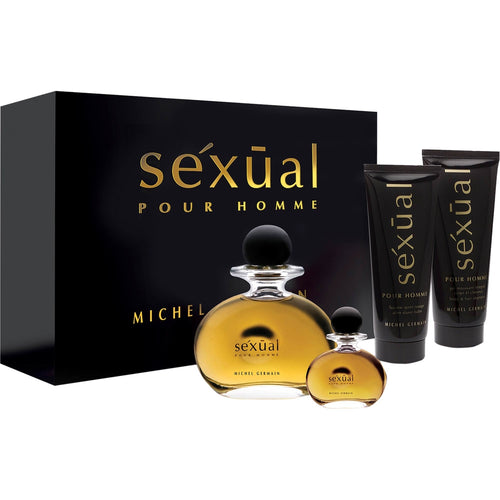 Michel Germain Sexual 4PCS Gift Set - 75ML EDT Spray + 10ML EDT Spray + 100ML After Shave Balm + 100ML Body & Hair Shampoo (Men)