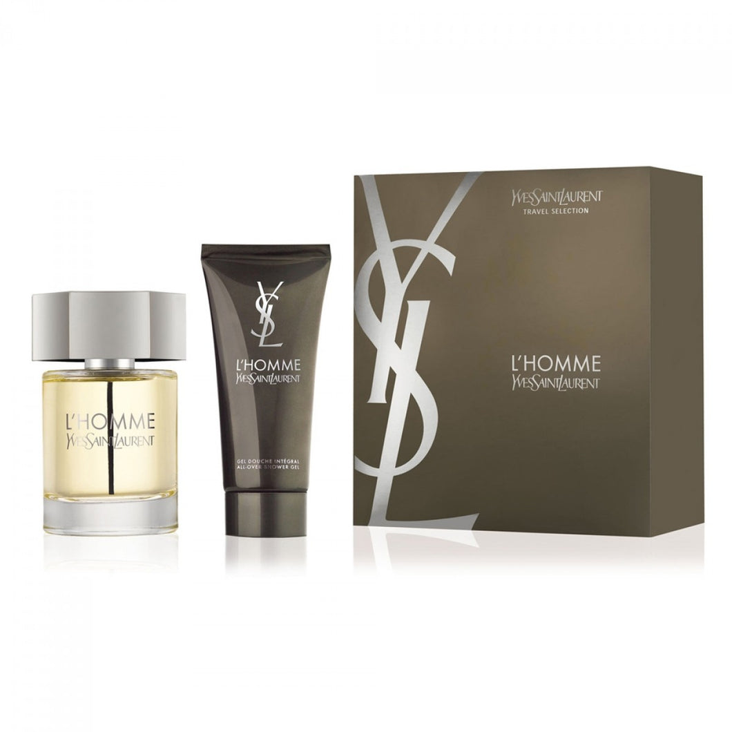 Yves Saint Laurent YSL L'Homme Gift Set - 100ML EDT Spray + 100ML Shower Gel (Men)