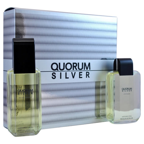 Quorum Silver 2Pcs Gift Set 100Ml Edt Spray + After Shave (Men)