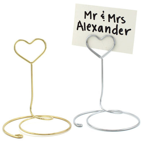 Wire Heart Card or Table Number Holder