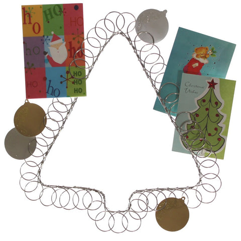 Wire Tree Christmas Card Holder