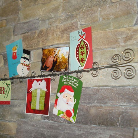 Curly Wire Wall Christmas Card Holder and Photo Holder