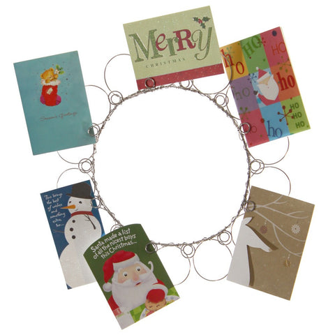 Wire Wreath Christmas Card Holder