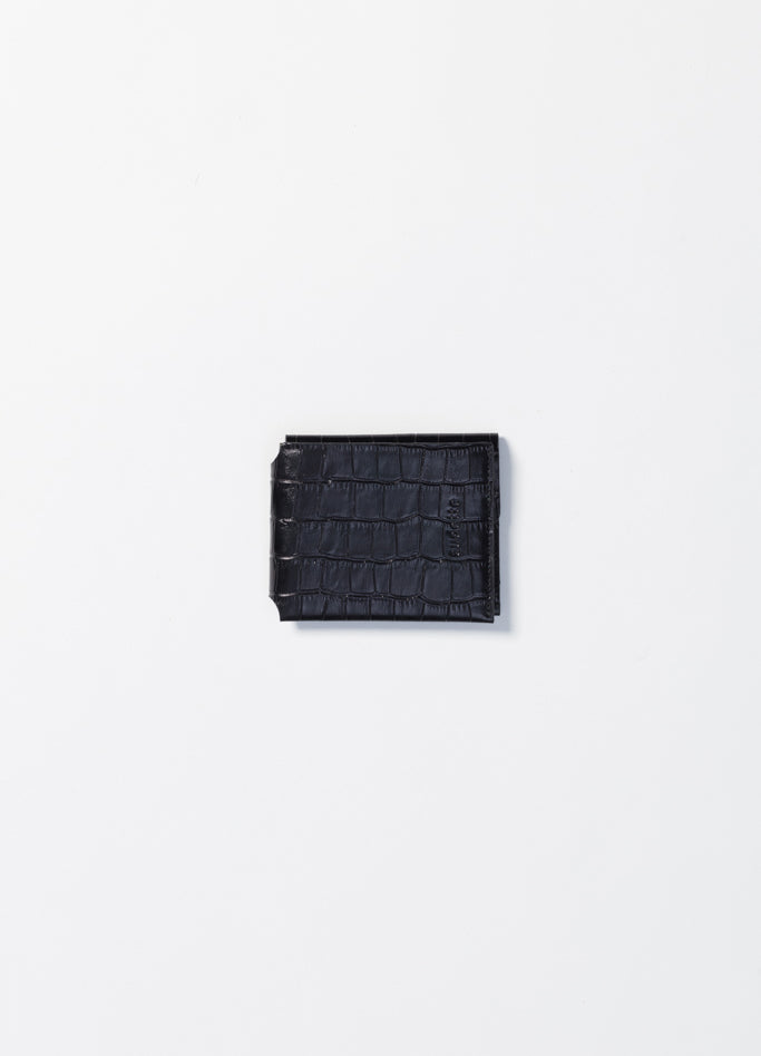 Wallet - Black Embossed Croco