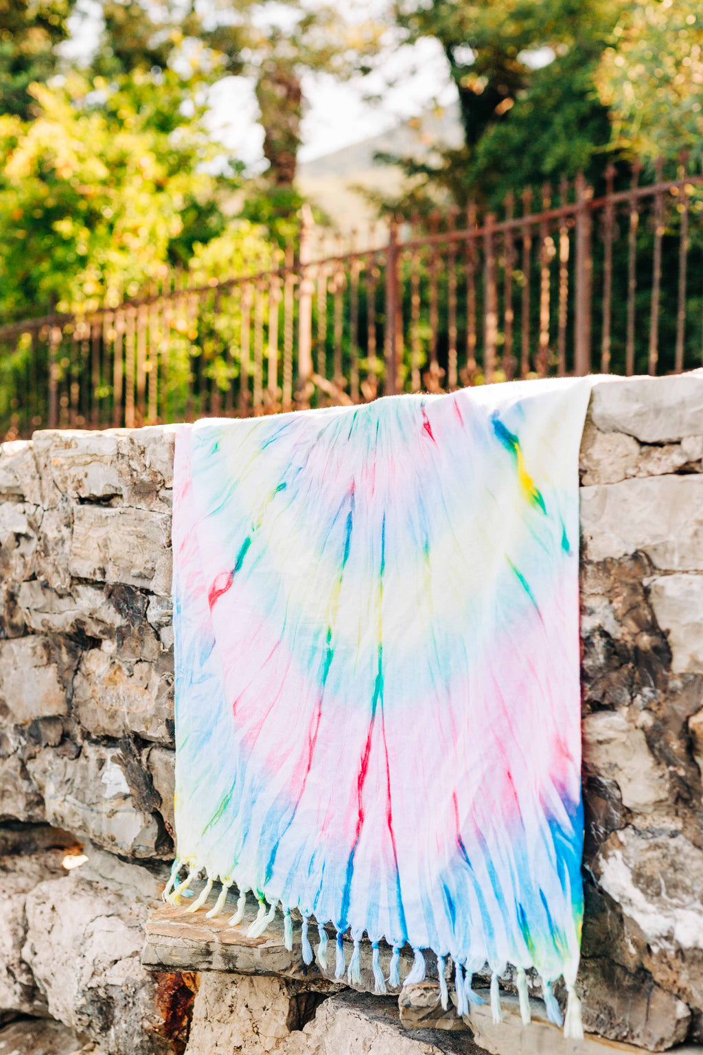 Basic Tie-Dye Turkish Towel Yellow