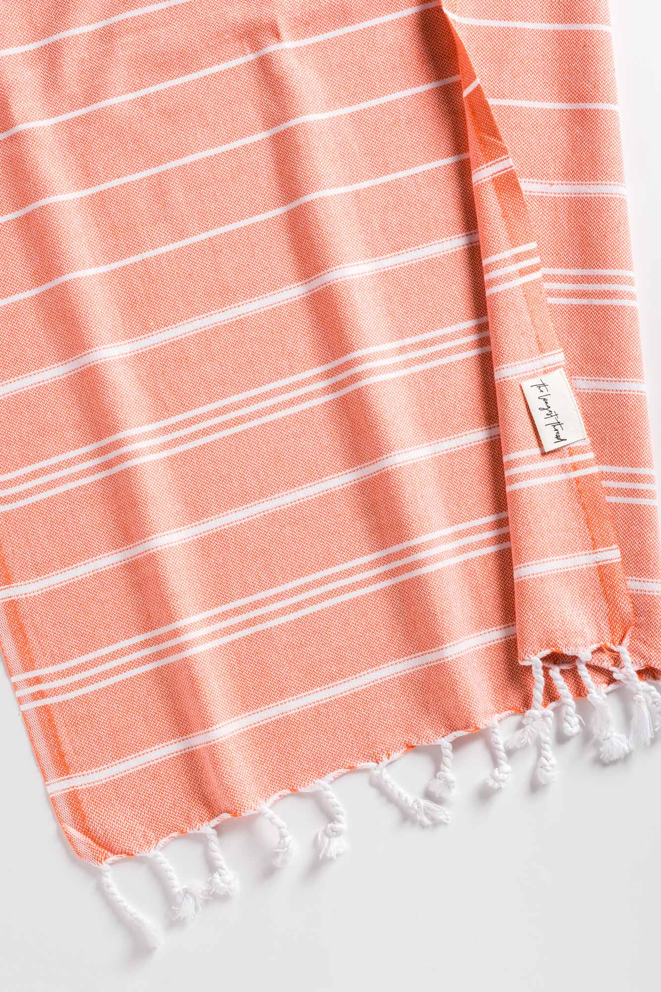 Basic Coral Turkish Hand Towel Image 1