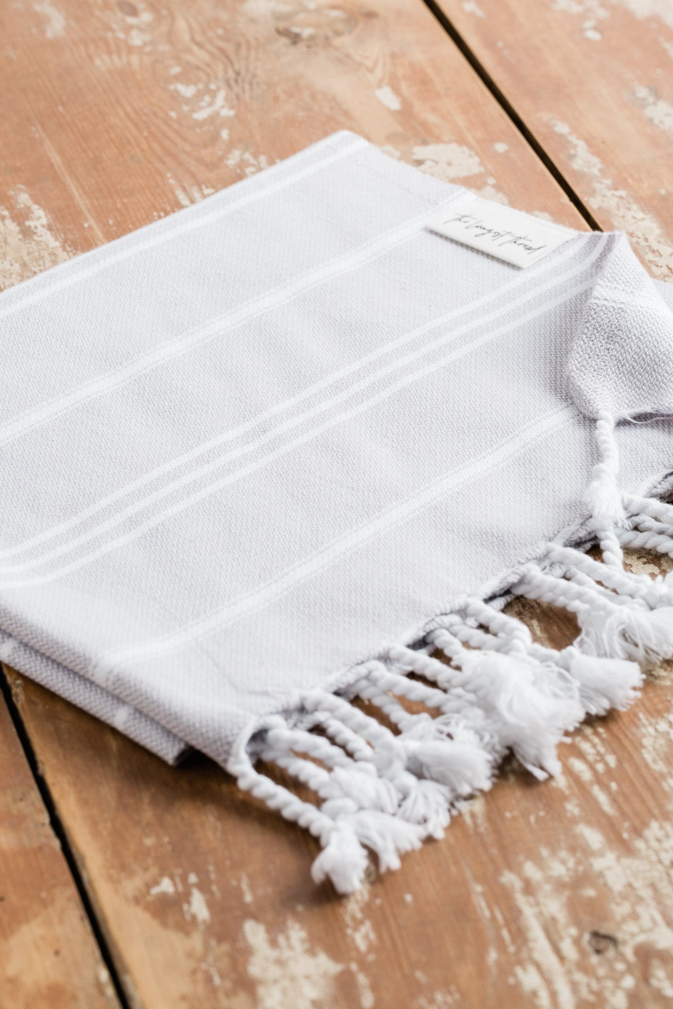 Basic Gray Turkish Hand Towel Image 2