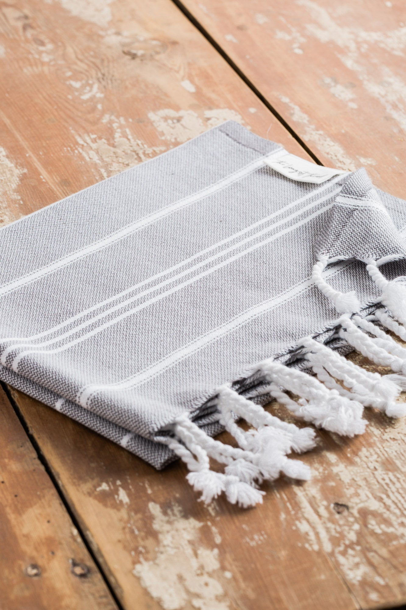 Basic Dark Gray Turkish Hand Towel Image 2