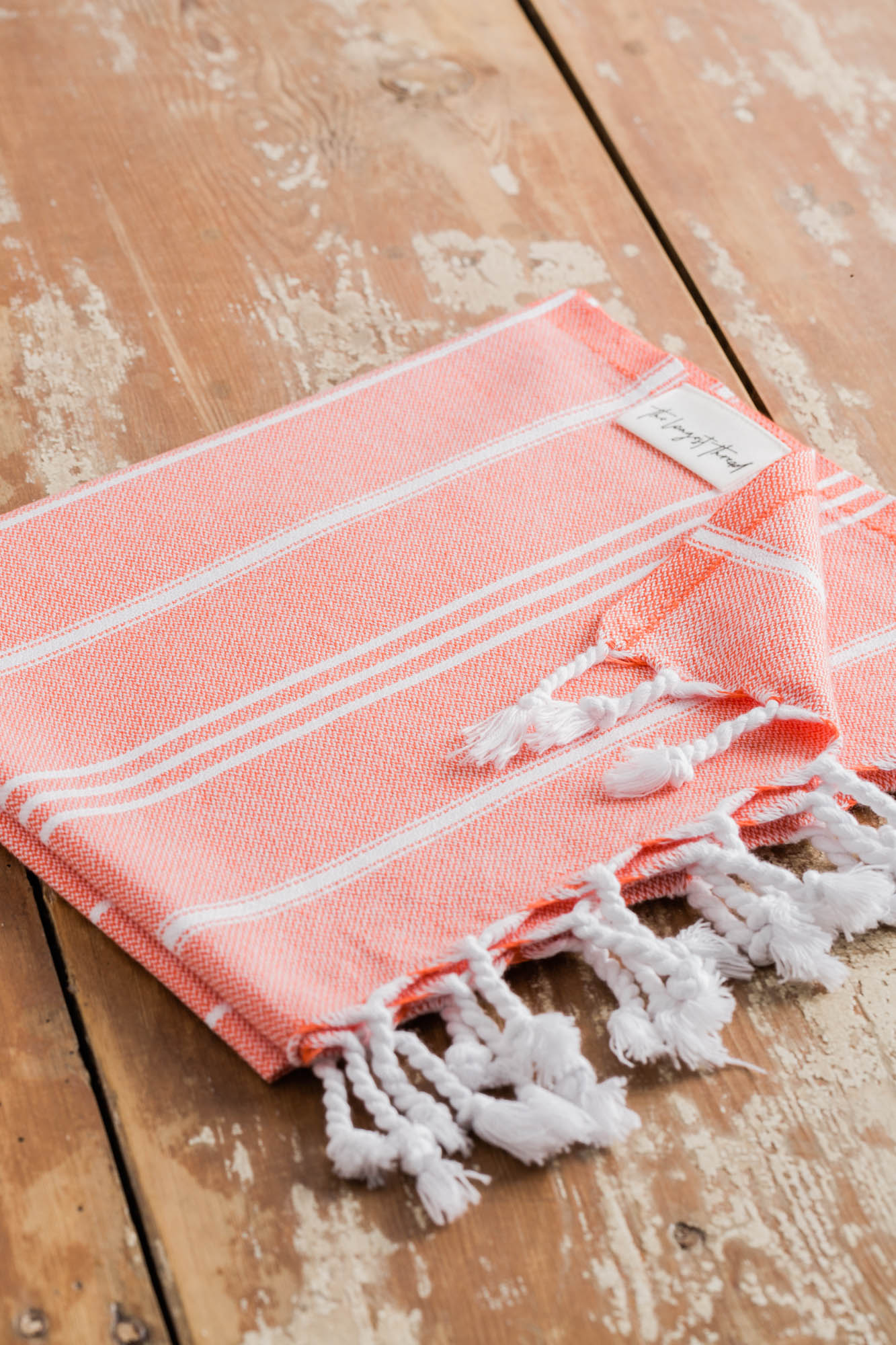 Basic Coral Turkish Hand Towel Image 2
