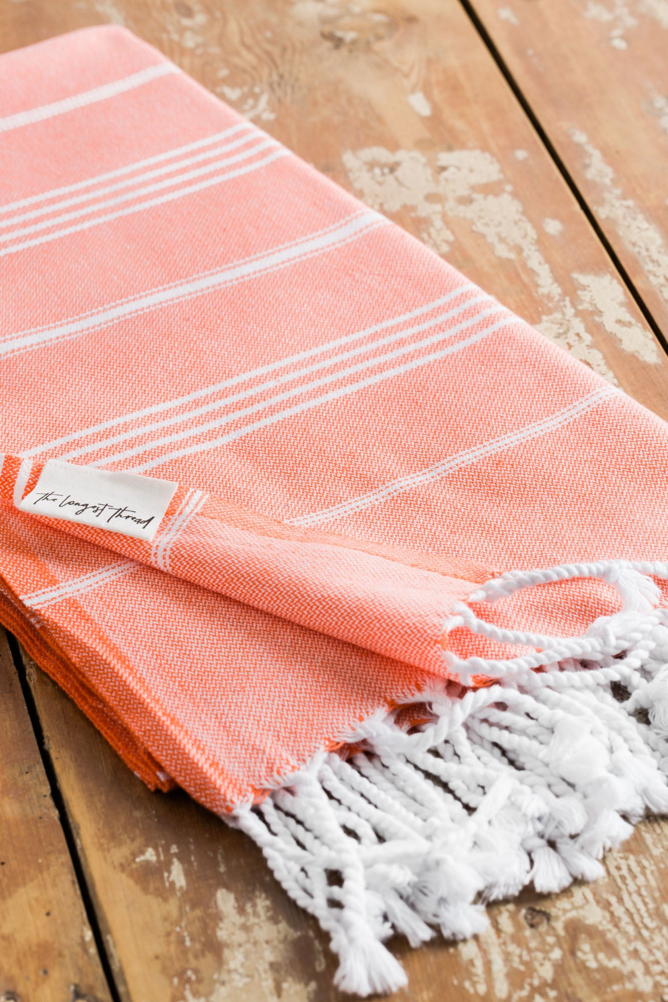 Basic Coral Turkish Towel Image 4