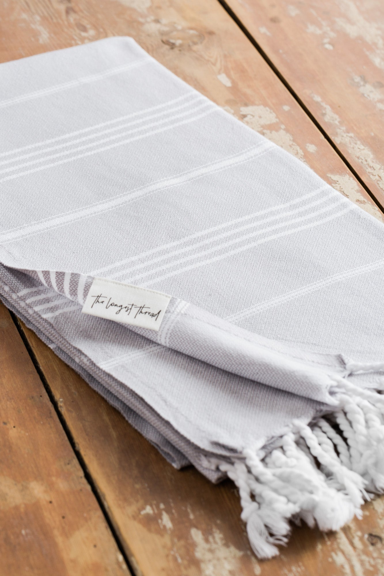 Basic Gray Turkish Towel Image 4