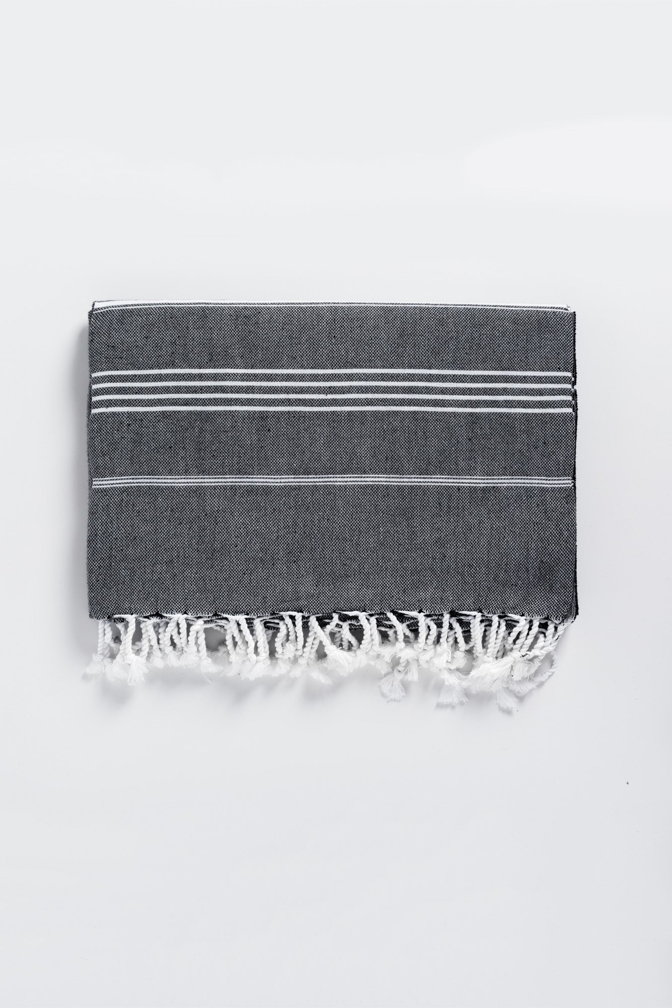Oversized Basic Black Turkish Towel - Beach Towel for Two