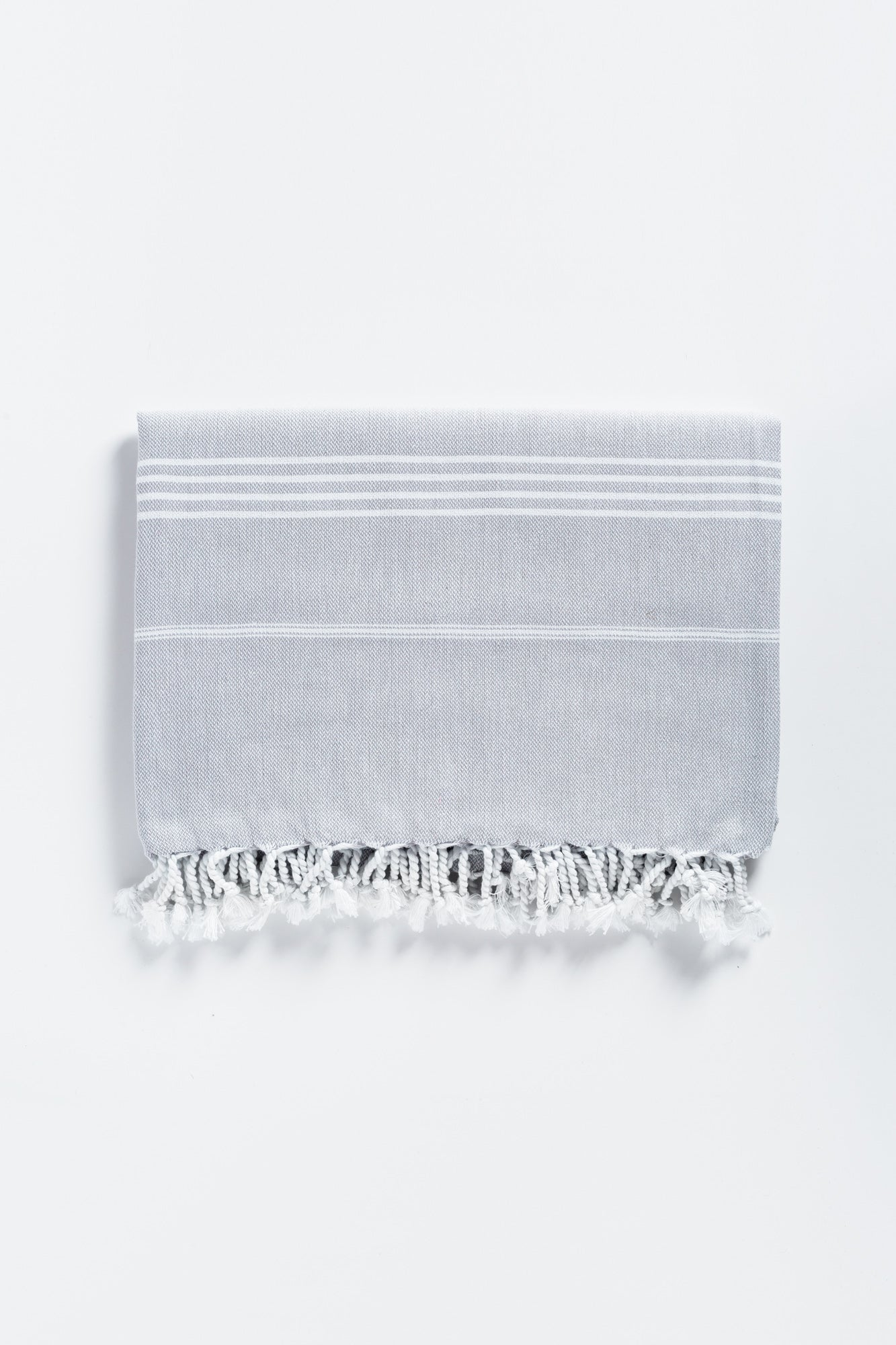 Oversized Basic Gray Turkish Towel - Beach Towel for Two