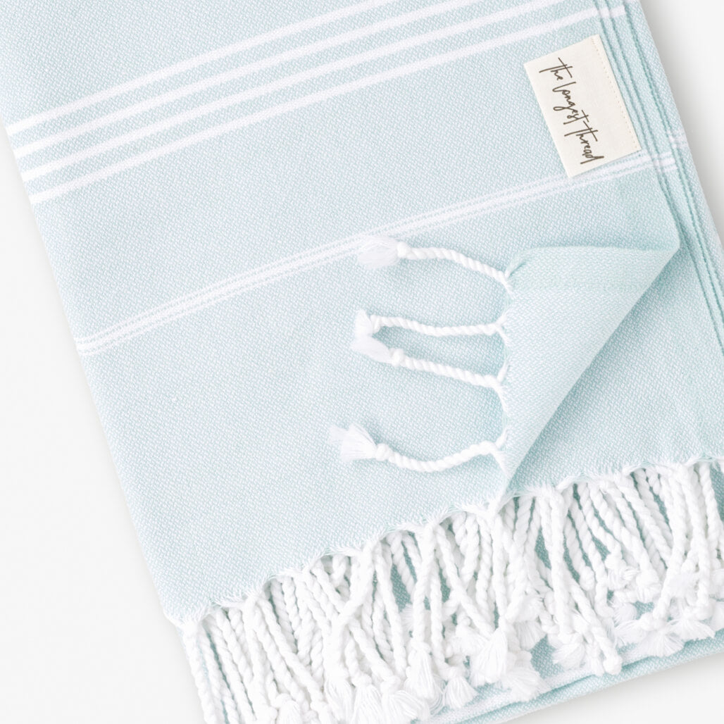 Basic Mint Turkish Towel Image 2