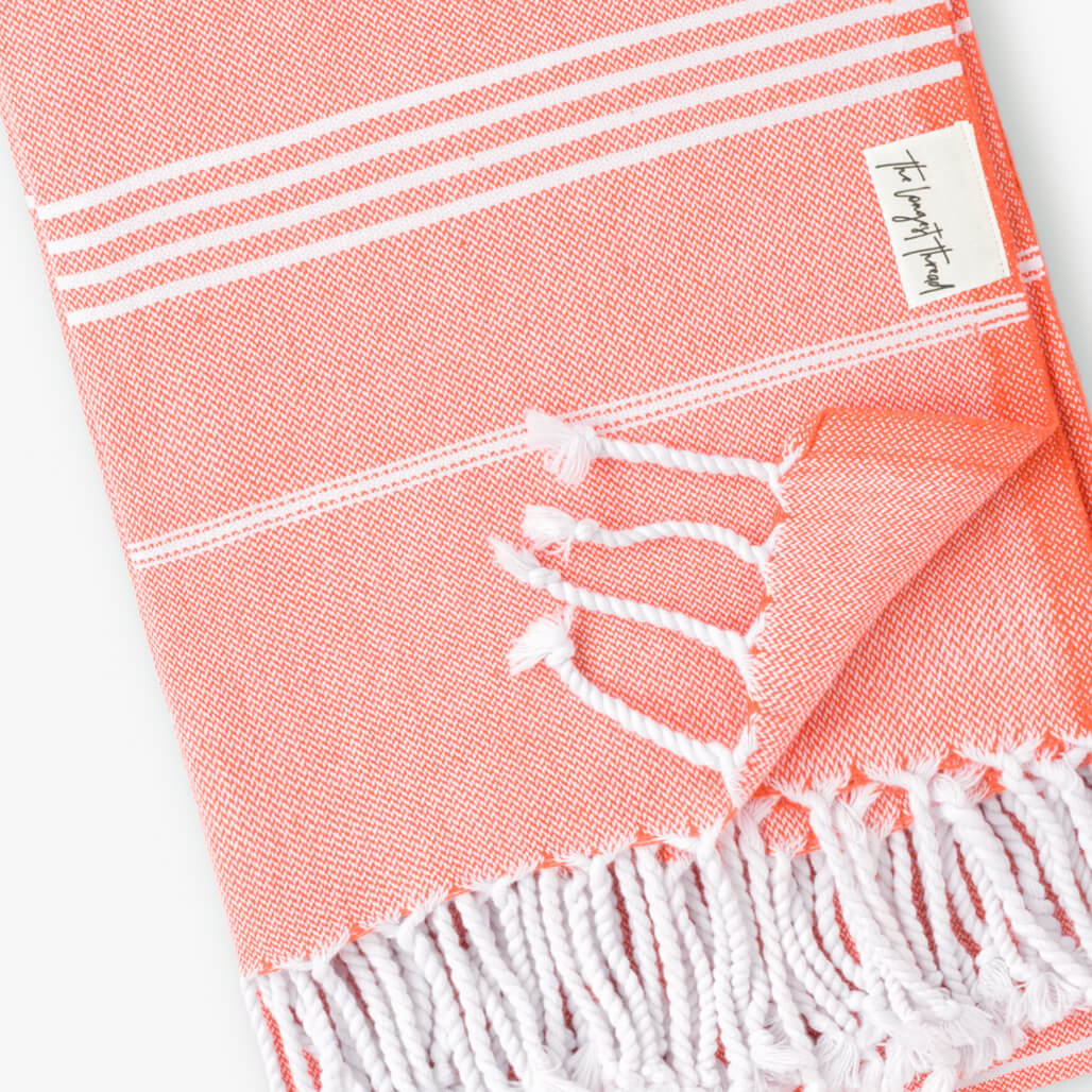 Basic Coral Turkish Towel Image 2