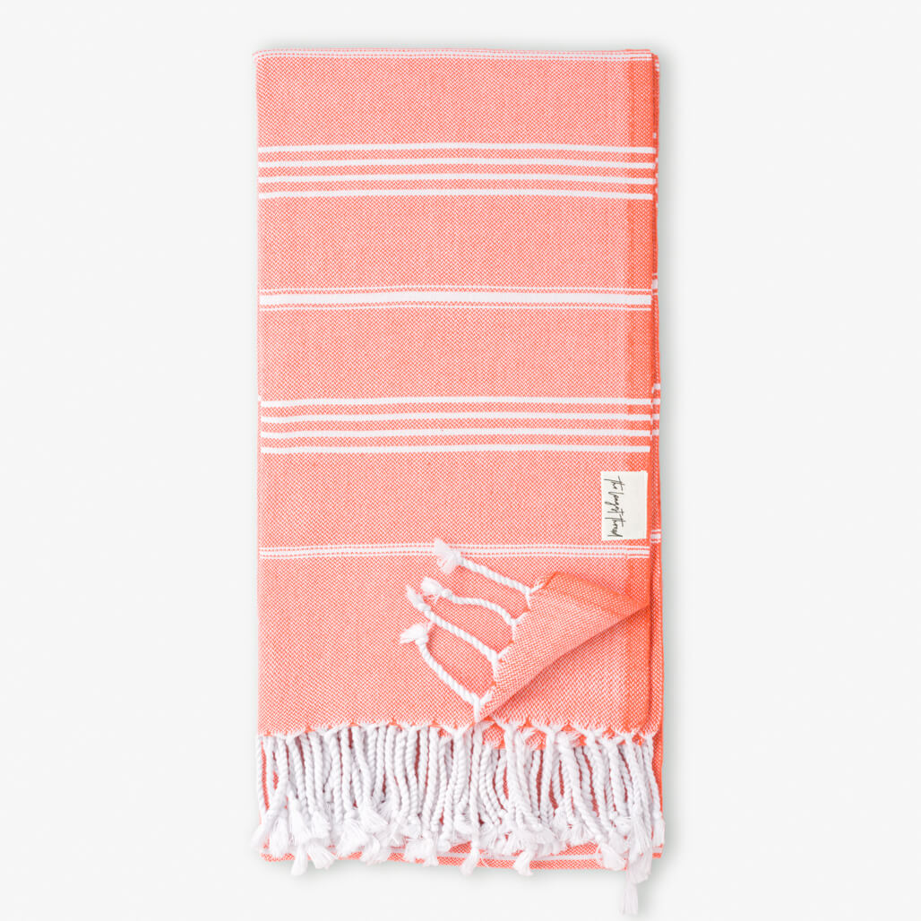 Basic Coral Turkish Towel Image 1