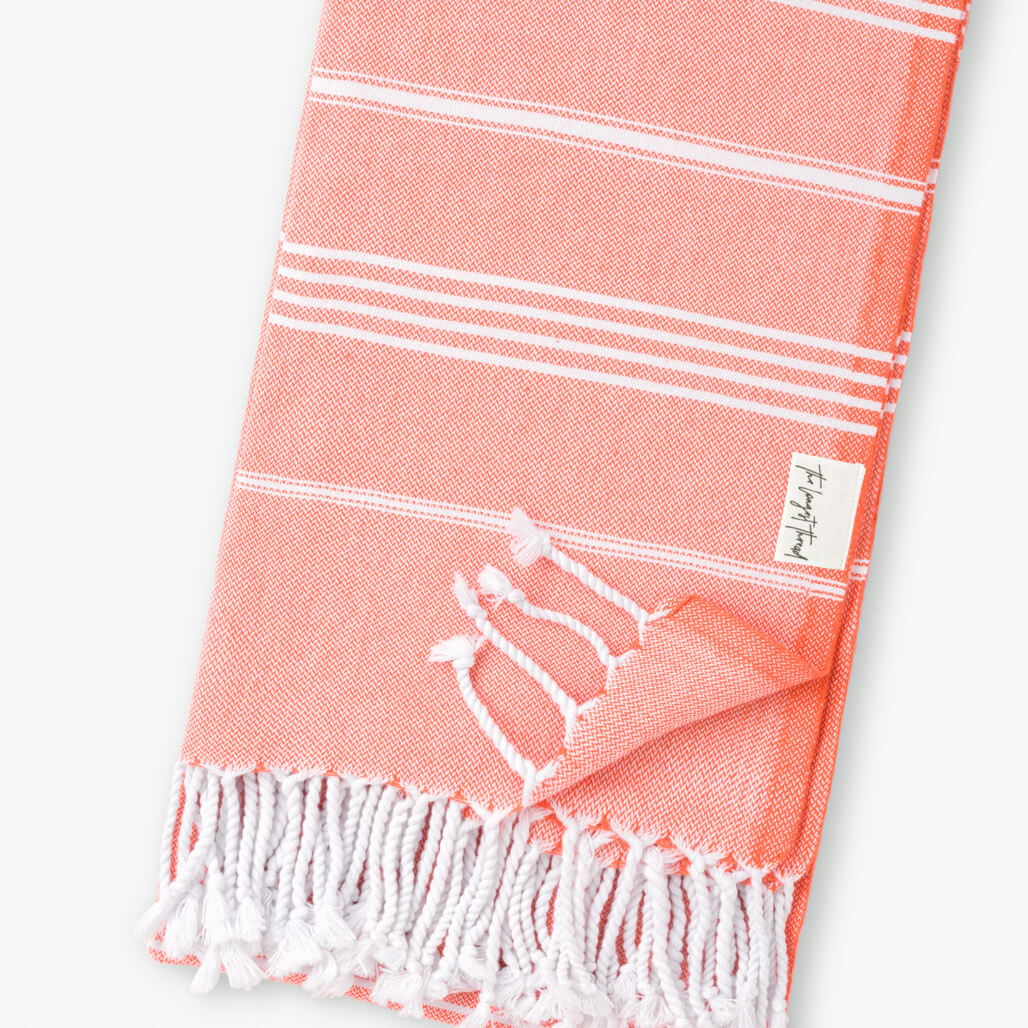 Basic Coral Turkish Towel Image 3