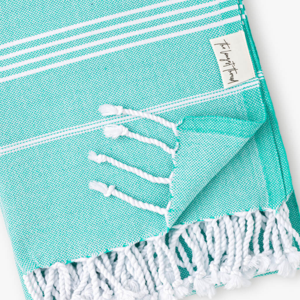 Basic Sea-foam Turkish Towel Image 3