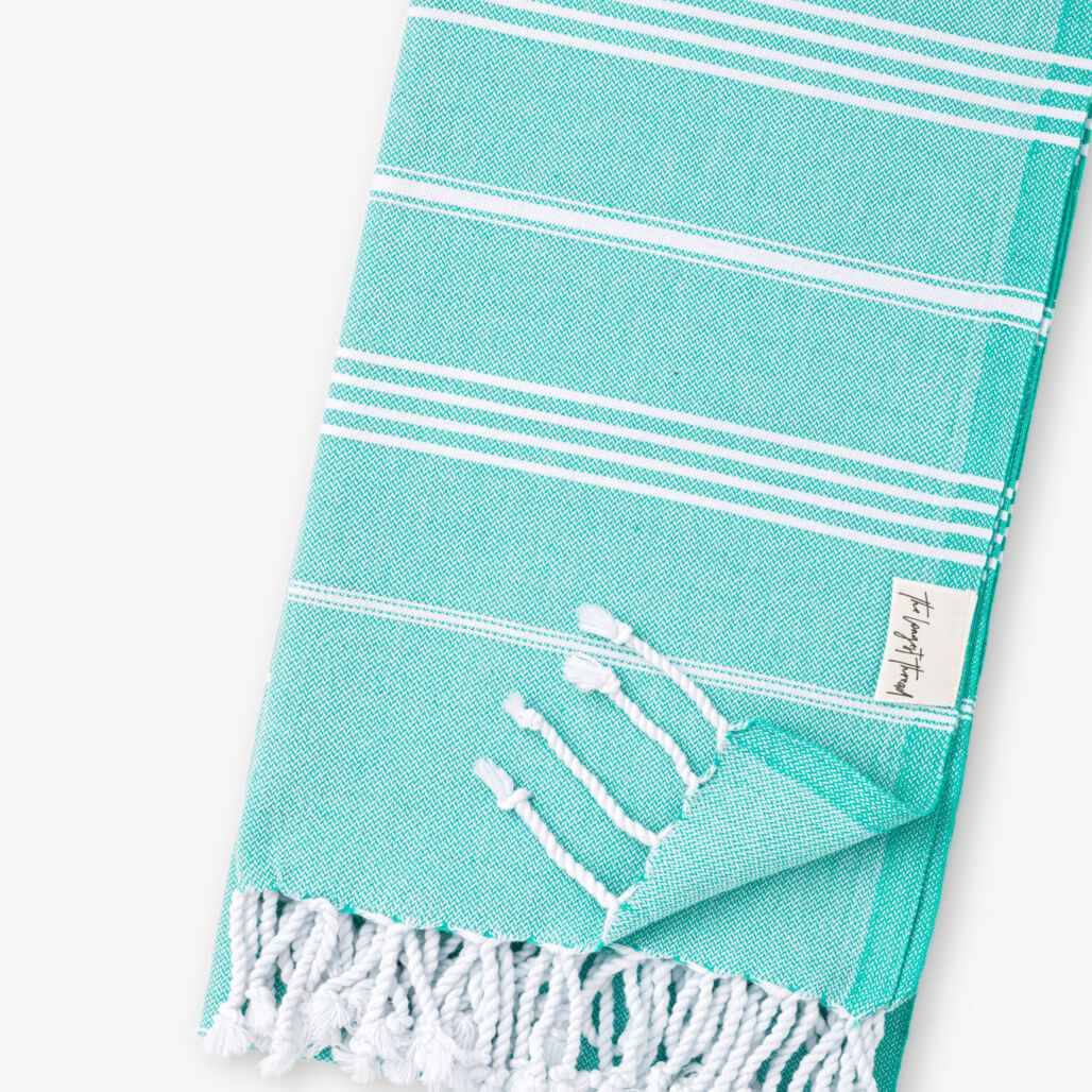 Basic Sea-foam Turkish Towel Image 2