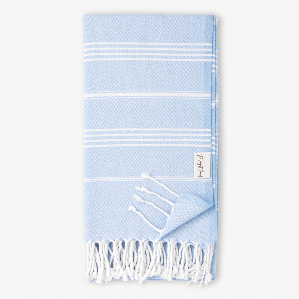 Basic Blue Turkish Towel 1