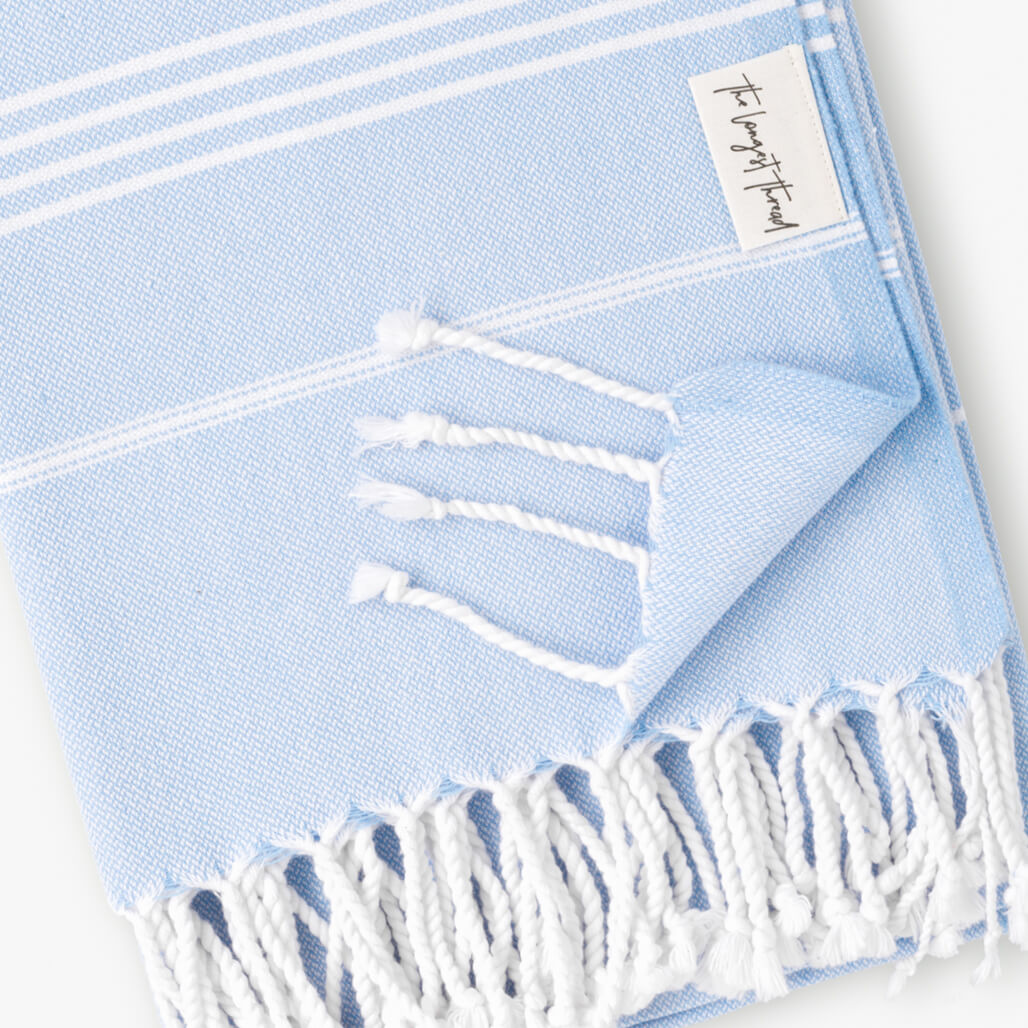 Basic Blue Turkish Towel 2