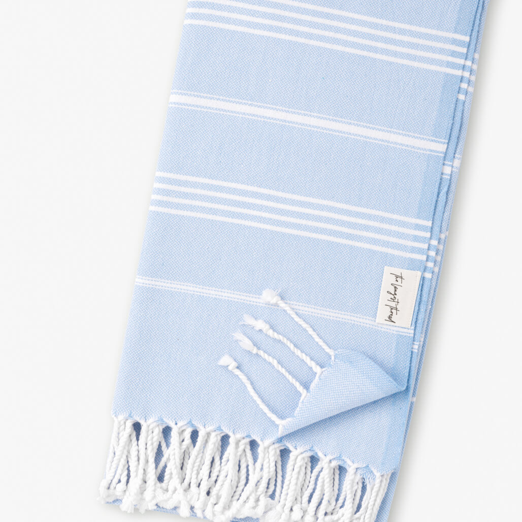 Basic Blue Turkish Towel 3