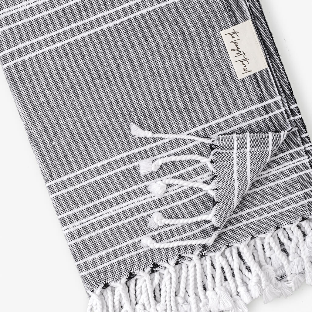 Saltwater Black Turkish Towel