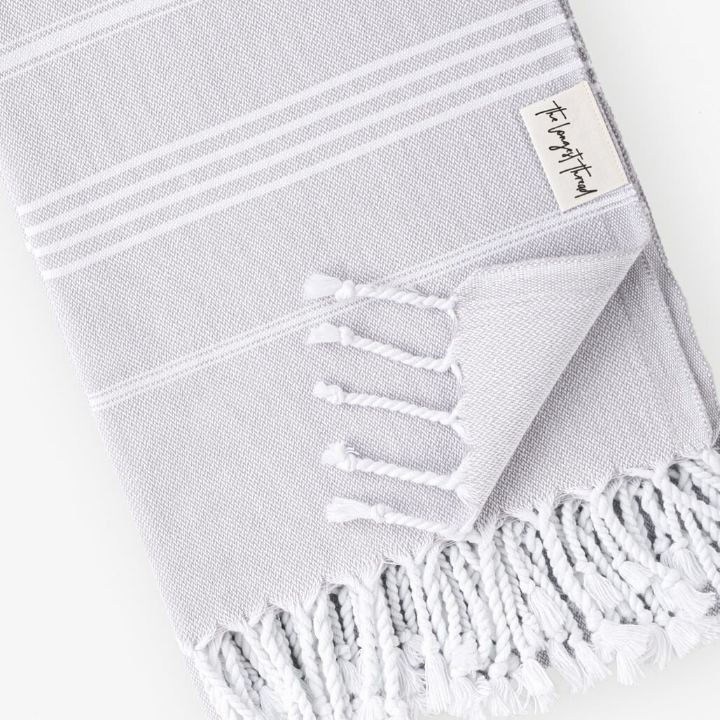Basic Gray Turkish Towel Image 2