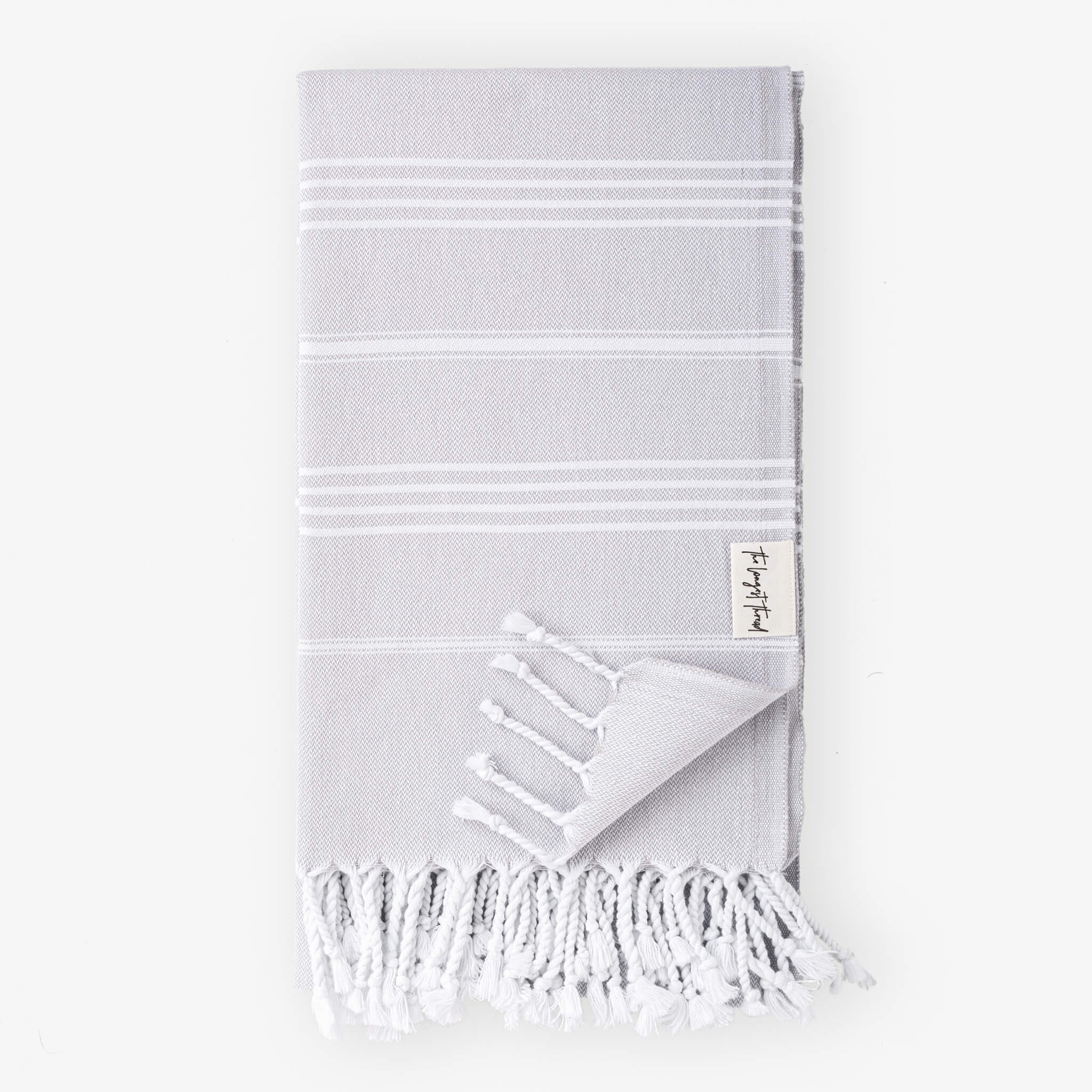 Basic Gray Turkish Towel Image 1