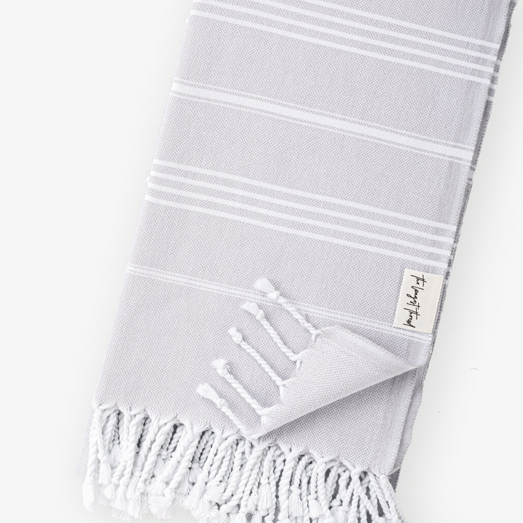 Basic Gray Turkish Towel Image 3