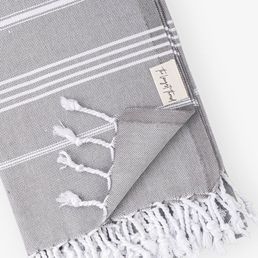 Basic Dark Gray Turkish Towel