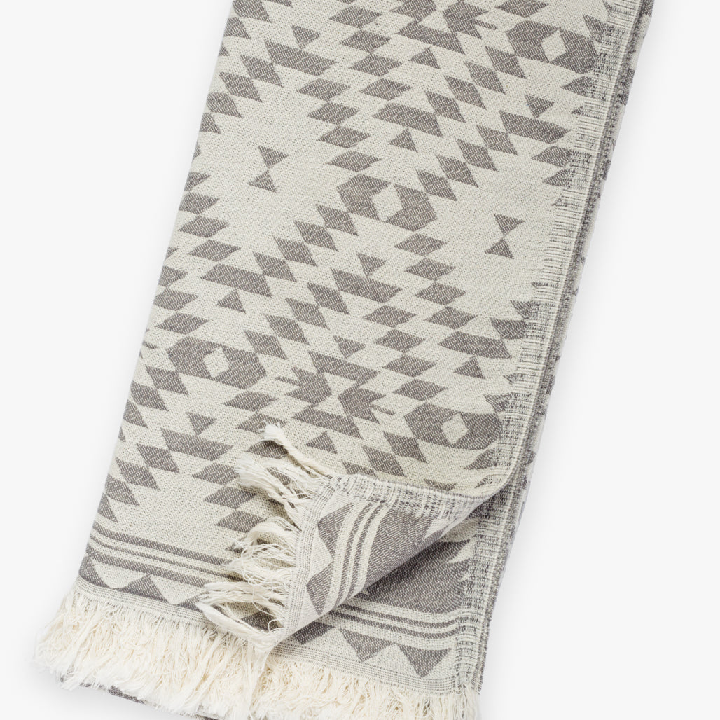 Kilim Dark Gray Turkish Towel Image 2