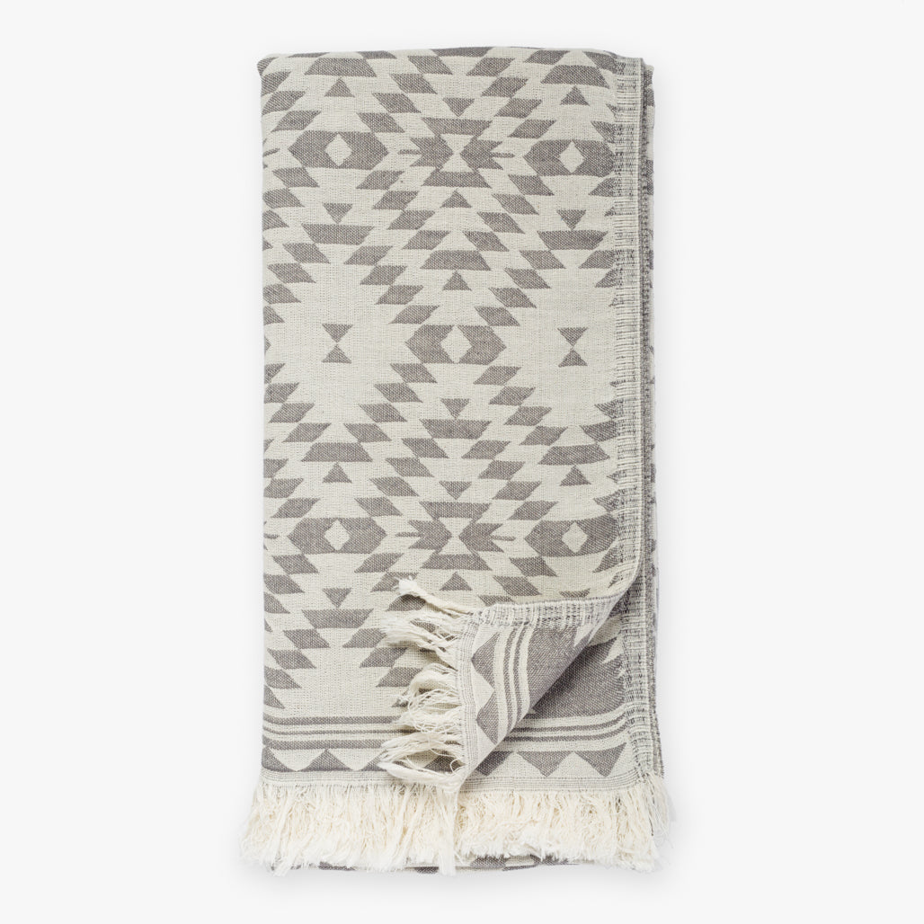 Kilim Dark Gray Turkish Towel