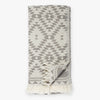 Kilim Dark Gray Turkish Towel Image 1