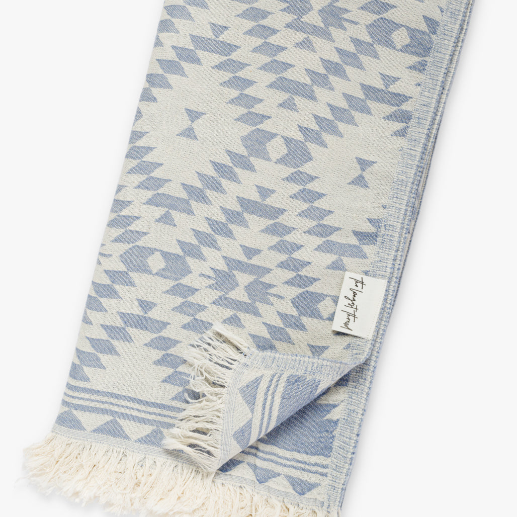 Kilim Denim Turkish Towel Image 2