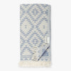 Kilim Denim Turkish Towel Image 1