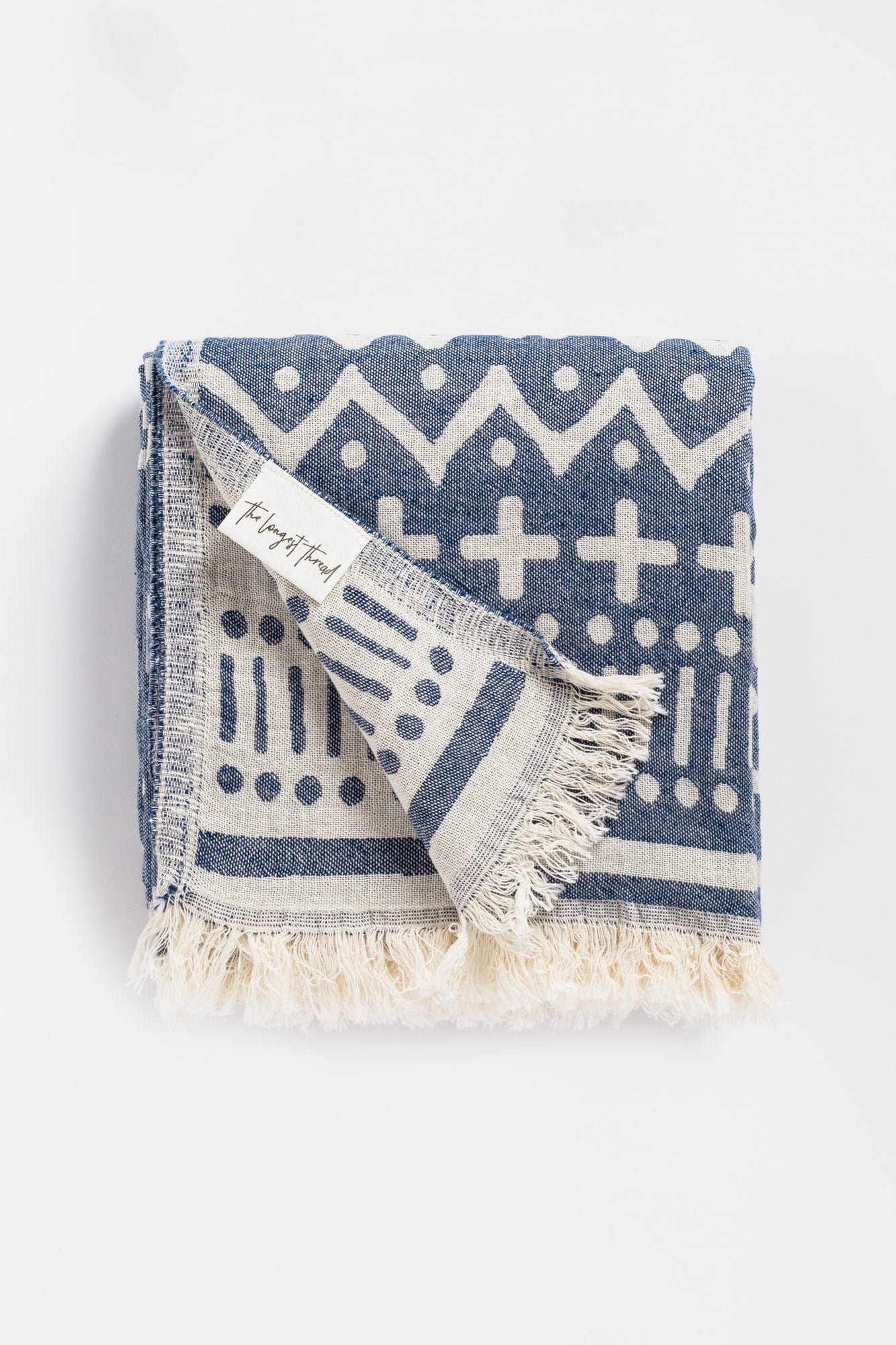 Maghreb Navy Turkish Towel Image 1
