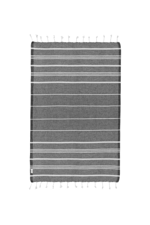 Basic XS Black Turkish Hand Towel